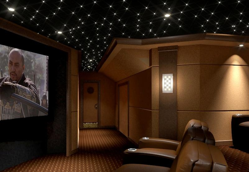 Bonus Room Turned Theater From Welcome Home Cinema In