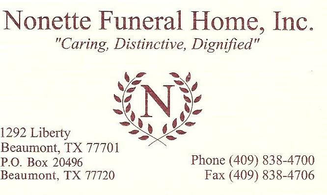 By Nonette Funeral Home