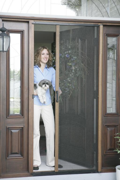 Pictures for sol x screens and shades in san antonio tx 78216 for Retractable bug screen door