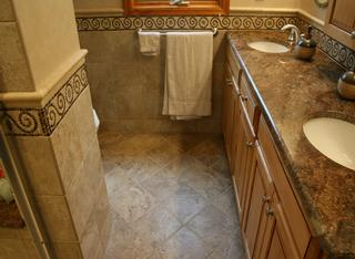 Travertine Tile Small Bathroom