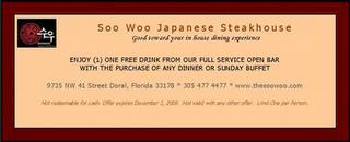 Soo-Woo Japanese Steakhouse - Miami, FL