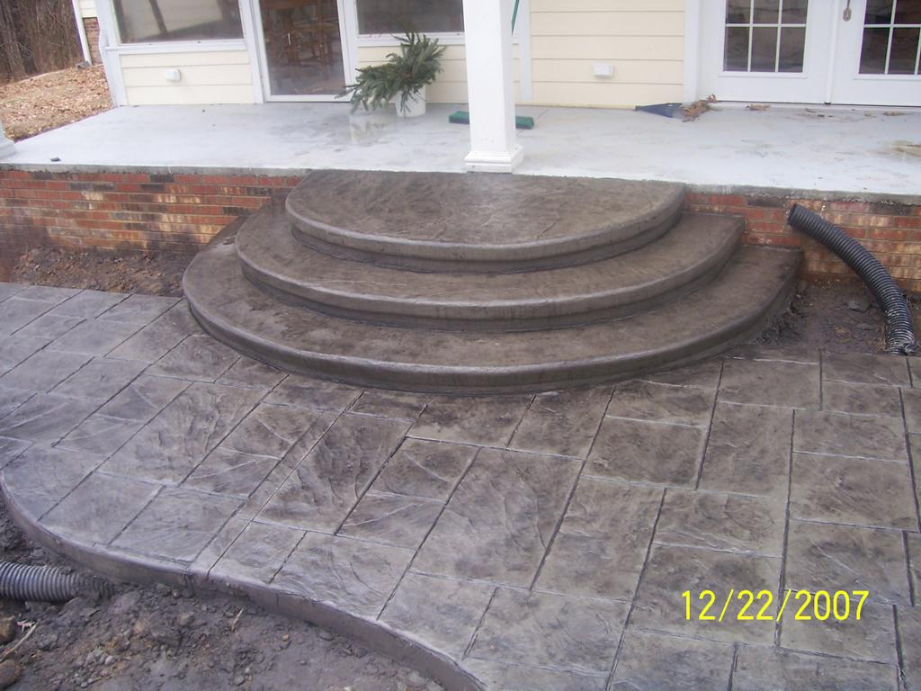 Stamped Patio U0026 Steps Bonnie 009