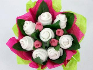 Swanky blooms baby bouquets and unique gifts inexpensive baby but if you really want to surprise the new mom or mom to be bring to her shower a baby sock gift bouquet each bouquet is made of 4 pairs of stay negle Choice Image