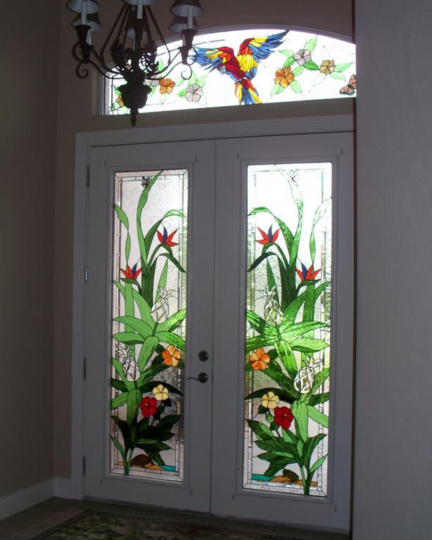 Pictures for designer art glass and door center in daytona for Art glass windows and doors