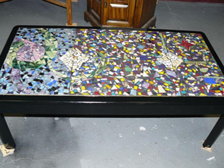 Mosaic coffee table from denise clenney 39 s changing designs for Mosaic coffee table designs