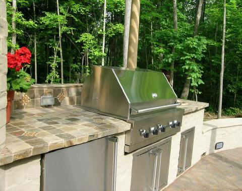 Outdoor Grill Countertop From Tile Stone Masters In
