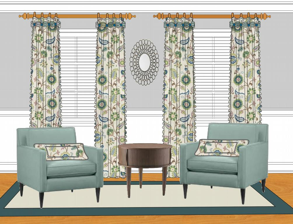 Blue Livingroom New From At Your Service Custom Window Treatments