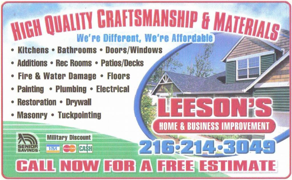 Leeson S Home Business Improvement Amp Handyman Service