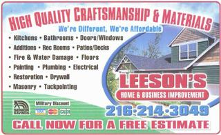 Leeson's Home/ Business Improvement & Handyman Service - Cleveland ...