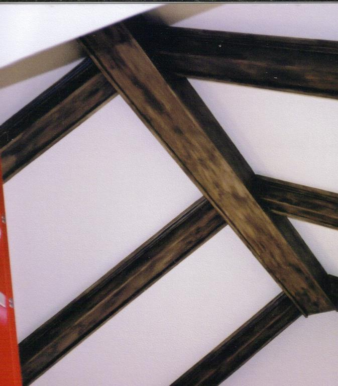 How much does it cost to install faux wood beams in a - Painting wood beams on ceiling ...