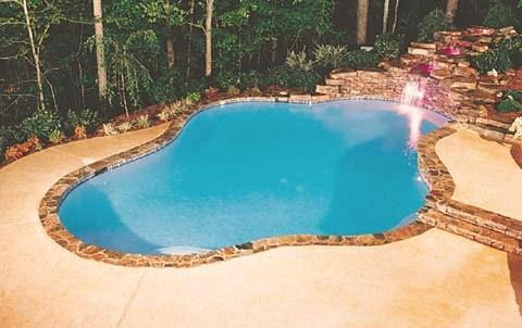 Flagstone coping pool from pool and spa solutions llc in for Garden spas pool germantown tn
