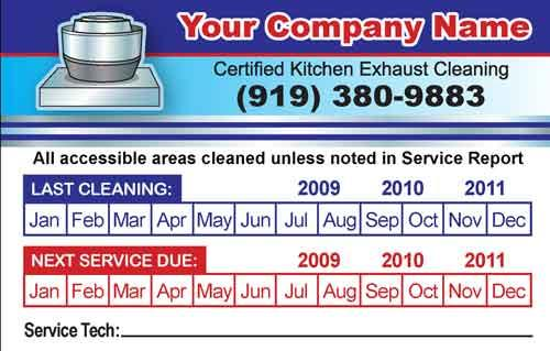 Kitchen Exhaust Cleaning Service Hood Stickers Cary Nc 27511 919