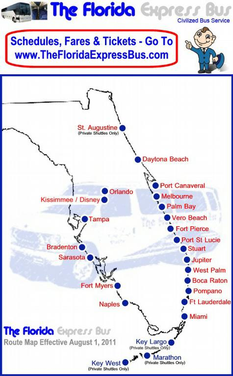 The Florida Express Bus promo codes sometimes have exceptions on certain categories or brands. Look for the blue