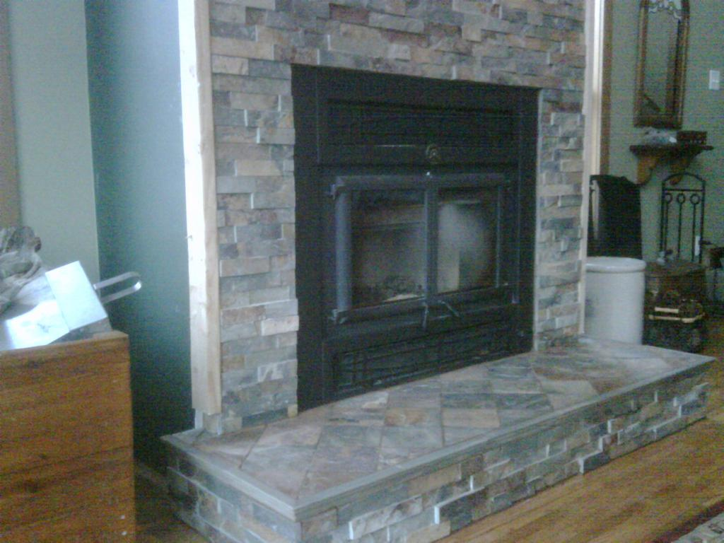 Slate Fireplace From JLC Tile Works In Forest Lake MN 55025