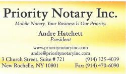 Business Card from Flushing Queens Mobile Notary, Queens ...