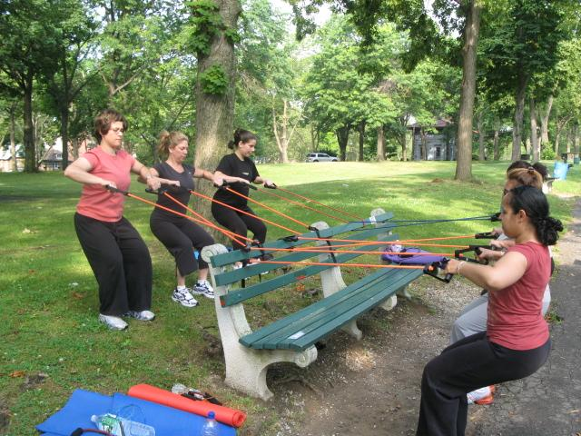 Group Exercise Outdoors Group Fitness Exercises on