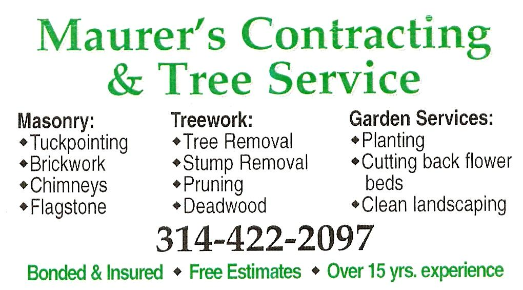 businesscard from Maurer Contracting & Tree Service in High Ridge ...