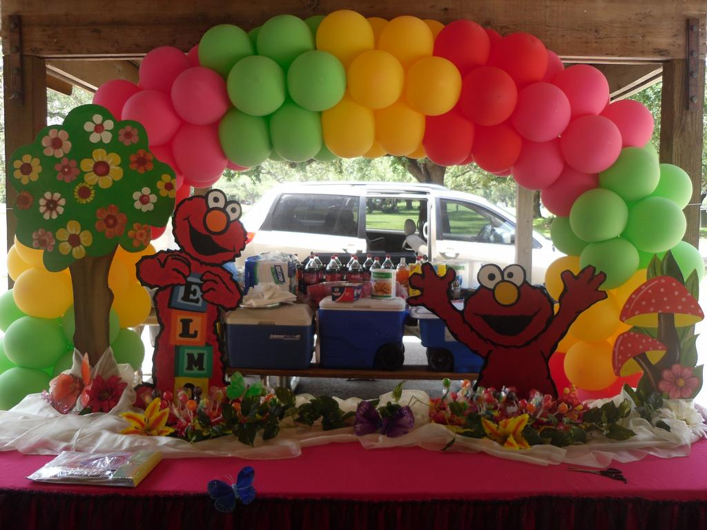 ELMO DECORATION FOR A GIRL from Partyzon Party Rental in ...