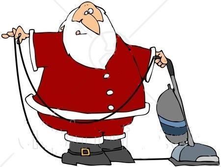 Santa vacuuming from PermaClean in Tucson, AZ 85710 ...