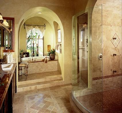 contemporary master bathroom with custom - Custom Master Bathrooms