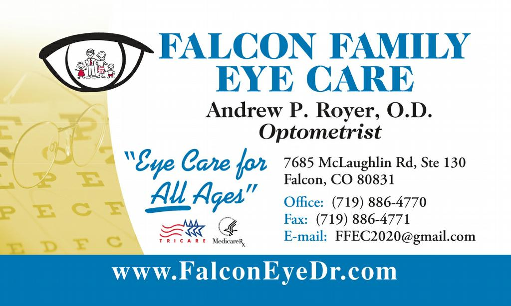 New-Business-Card-Design from Falcon Family Eye Care, P.C. in Peyton ...