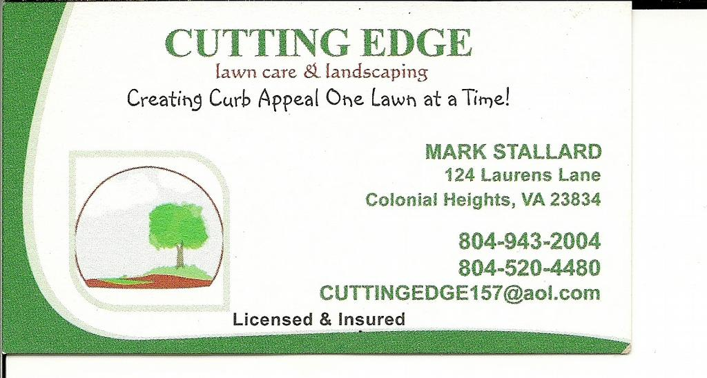 Cutting Edge Lawn Care Amp Landscaping Colonial Heights Va