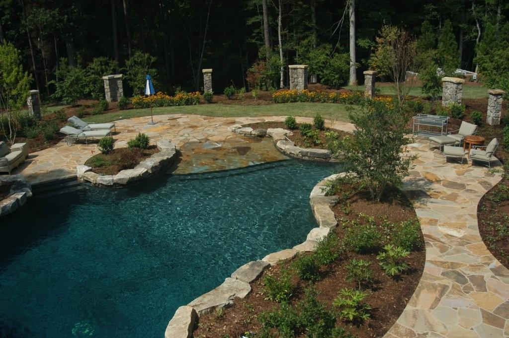 Picture: Tenn. flagstone pool deck. provided by Stone Center of ...