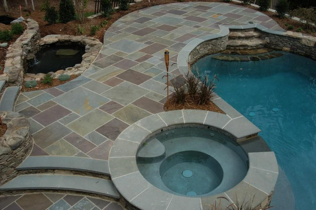Bluestone Pool Deck From Stone Center Of Georgia In