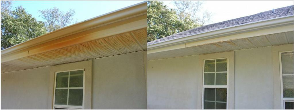 Rust Removed From Gutter From High Tide Exterior Cleaning Solutions In Saint Augustine Fl 32080