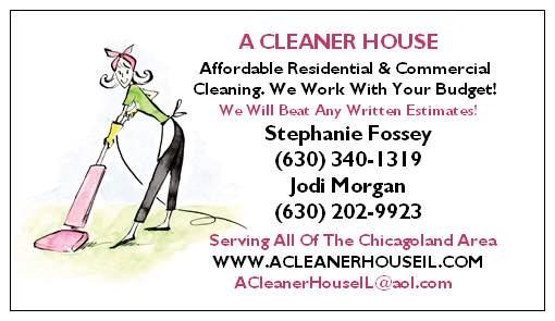 Our Business Card from A Cleaner House in Yorkville, IL 60560