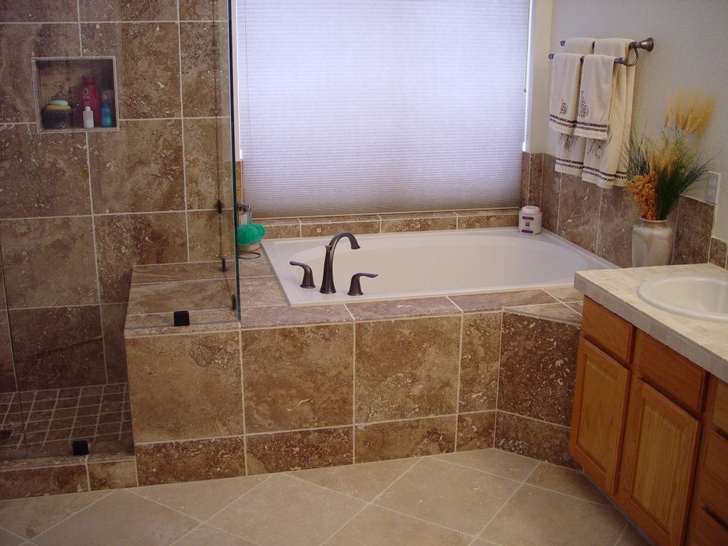 Pictures for tile by pfiel inc in golden co 80403 for Bathroom soaking tub ideas