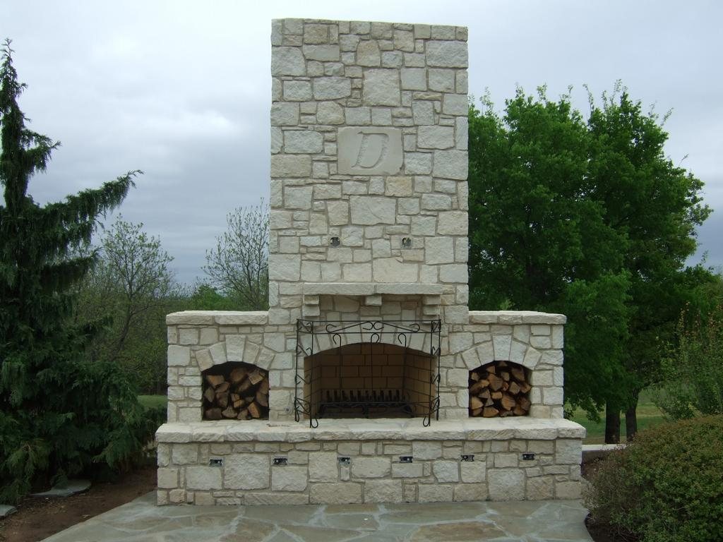 austin stone fireplace 3 from rock solid materials llc in bixby