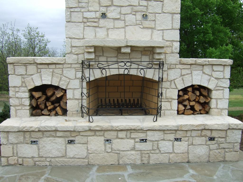 Austin stone fireplace 6 from rock solid materials llc in for Austin stone fireplace