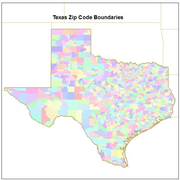 Zip Code Maps By State Texas