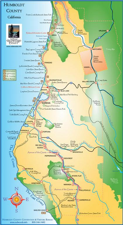 Humboldt County Map by Friends & Neighbors of the SoHum Community Park & Tooby Memorial Park