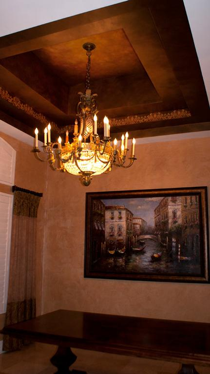 Faux Painted Walls With Scrollwork
