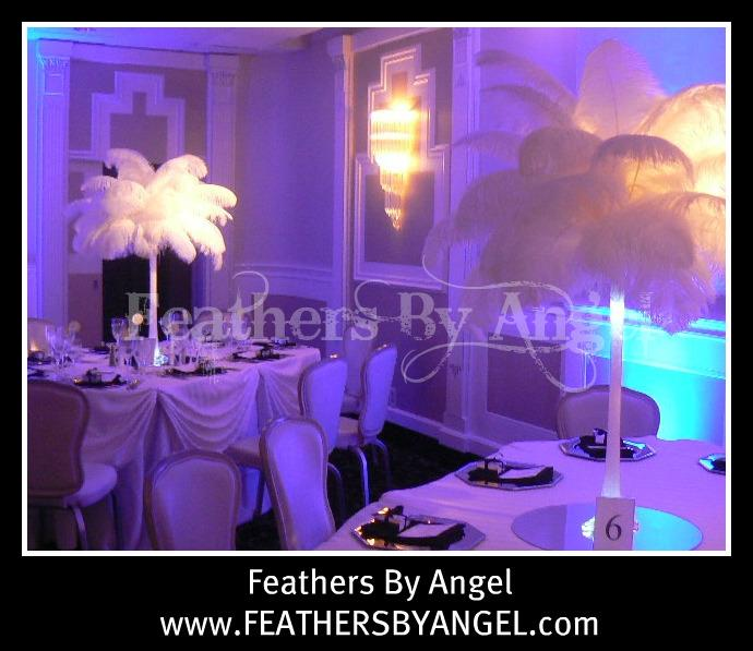 Ostrich feather centerpieces for rent from feathers by
