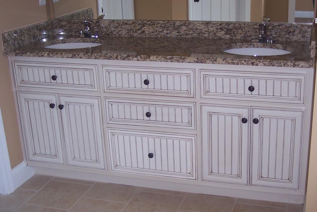 double vanity from crackerjack cabinets inc by bobby watson jr in