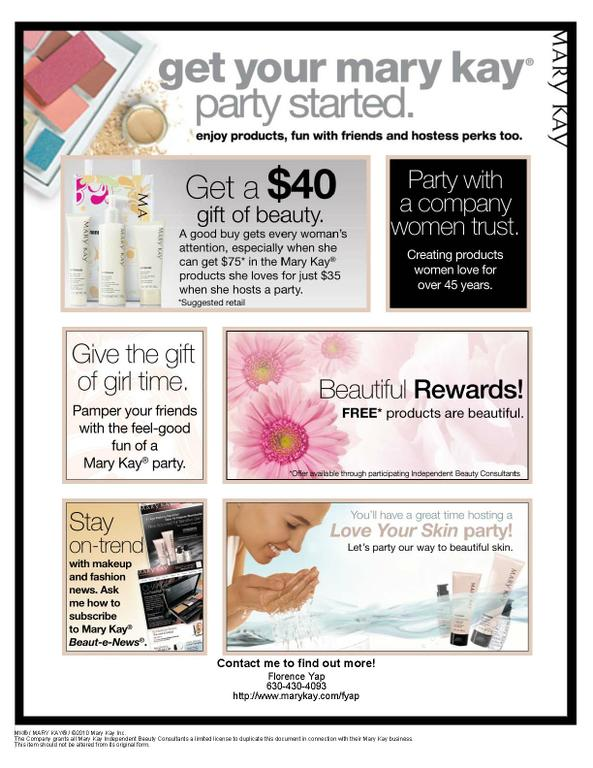 Beautyviteflyer Independent Beauty Consultant Mary