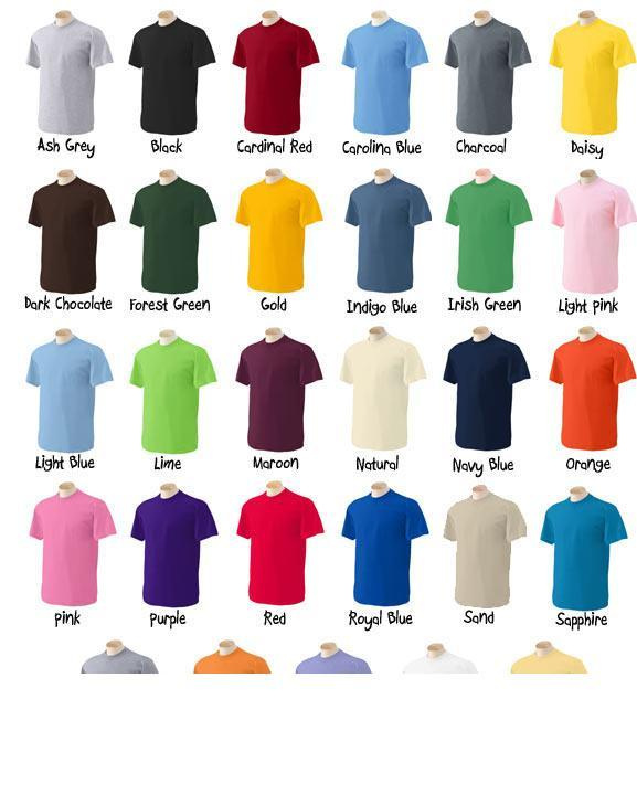 t shirt colors 2017