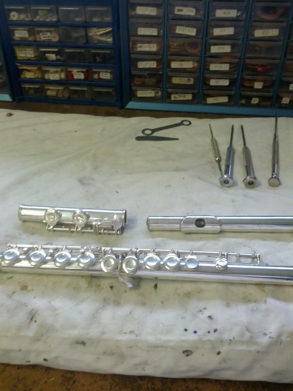 MMR Flute After OH by MOORE MUSIC REPAIR