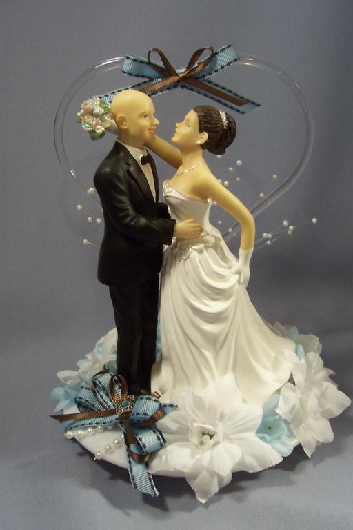 wedding cake toppers bald groom bald groom with from quot top it quot cake toppers 26387