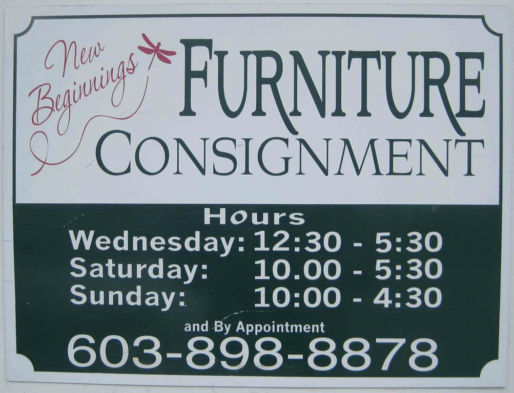 New Beginnings Furniture Consignment - Salem NH 03079 : 603-898-8878