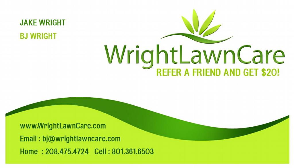 WrightLawnCare-businesscards from Wright Lawn Care in Boise, ID 83716
