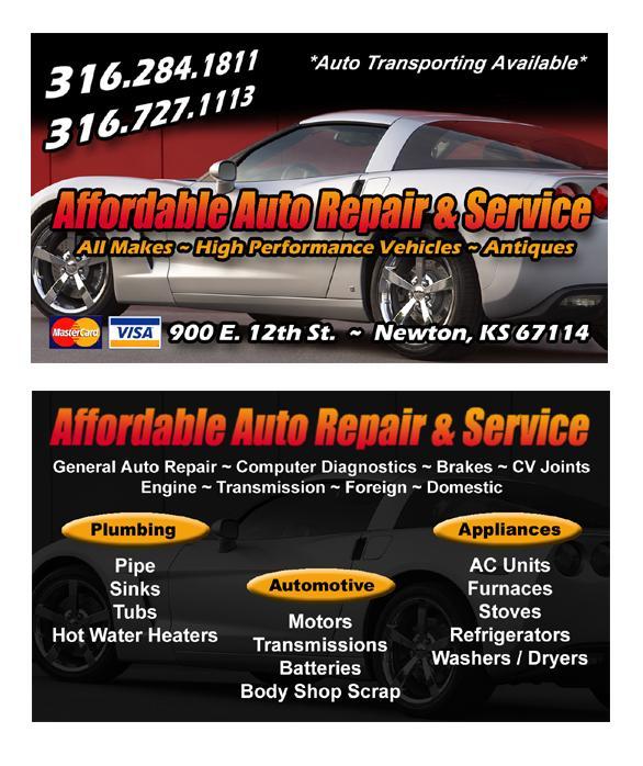 Johns Affordable Automotive Repairs: Amy Younts Designs - Newton KS 67114