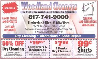 Woodland Cleaners Dry Cleaning Alterations Shoe