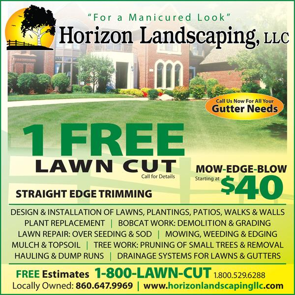 Lawn care ad from horizon landscaping llc in manchester for Lawn maintenance service