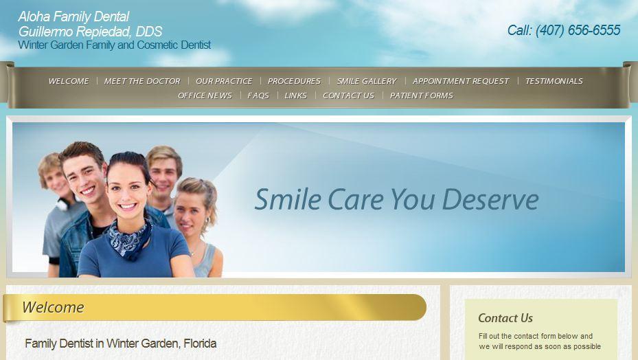 Aloha Family Dental Dr Guillermo Repiedad Winter Garden