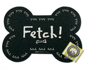 Fetch Dog Bone Rubber Placemat From Above And Beyond