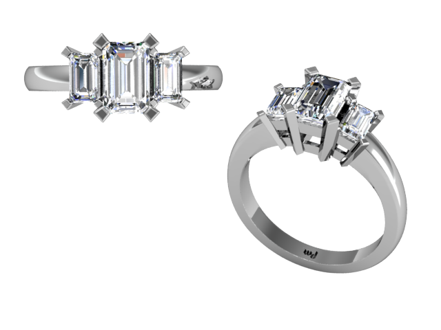 Tags engagement rings diamonds emerald cut stones